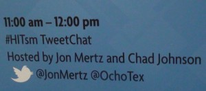 HITsm Tweetchat Live from HiMSS13