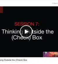 TEDMED SESSION 7: Thinking Outside the (Check) Box